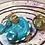 Thumbnail: Sleepy Dice Dragon - teal/gold/white