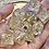 Thumbnail: Pearl and Gold- 10 pc dice set