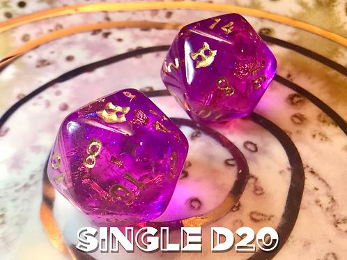Pink/Purple starbursts- Single d20