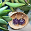 Thumbnail: Purple w bats d20- Handmade Dice Earrings