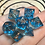 Thumbnail: Blue/copper - Mini 7pc Dice Set