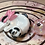 Thumbnail: Sleepy Dice Dragon - white/pink/black