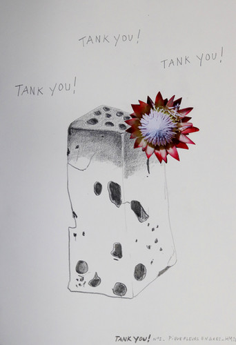 Tank You! Dessin collage, 2020. H.Mougin