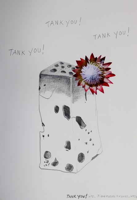 Tank You! Dessin collage, 2020. H.Mougin