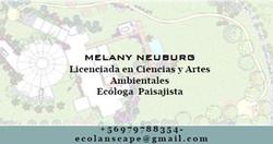 Melany Neuborg - Ecóloga Paisajista
