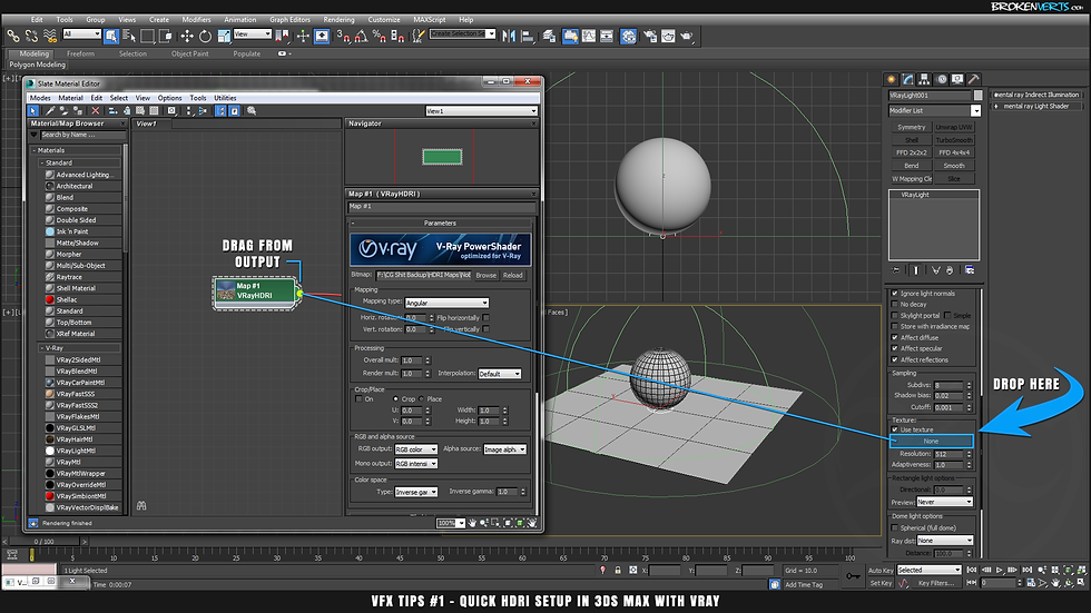 HDRI in 3ds Max with V-Ray Tutorial Ben Tate VFX Tips CG 3D Brokenverts.com