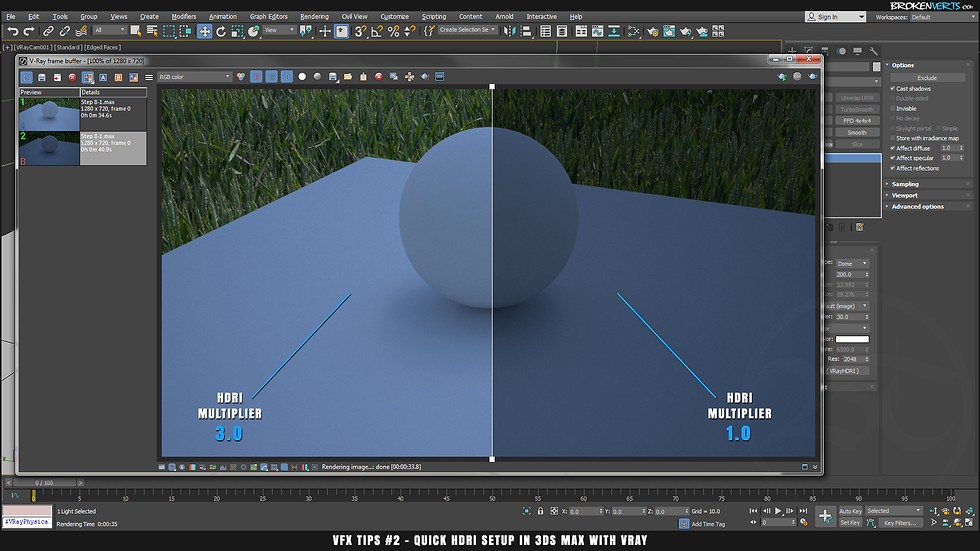 Quick HDRI Seup in 3ds Max with V-Ray 3 6 Tutorial | Ben