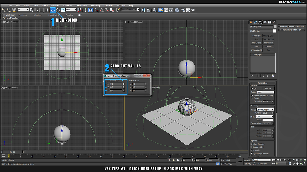 V-Ray Dome Lighting in 3ds Max with V-Ray 2 Ben Tate Tutorial VFX Tips CG 3D Brokenverts.com