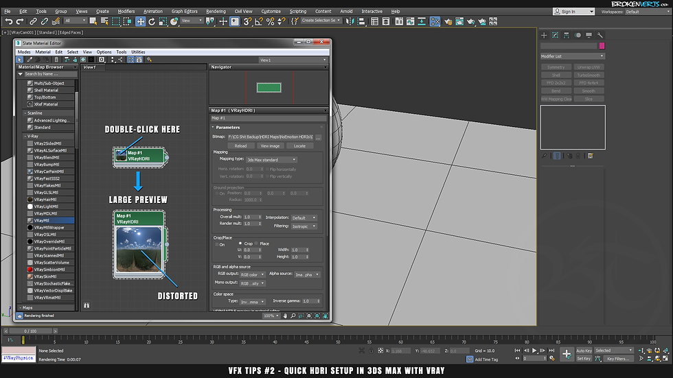 Quick HDRI Seup in 3ds Max with V-Ray 3 6 Tutorial | Ben Tate | VFX