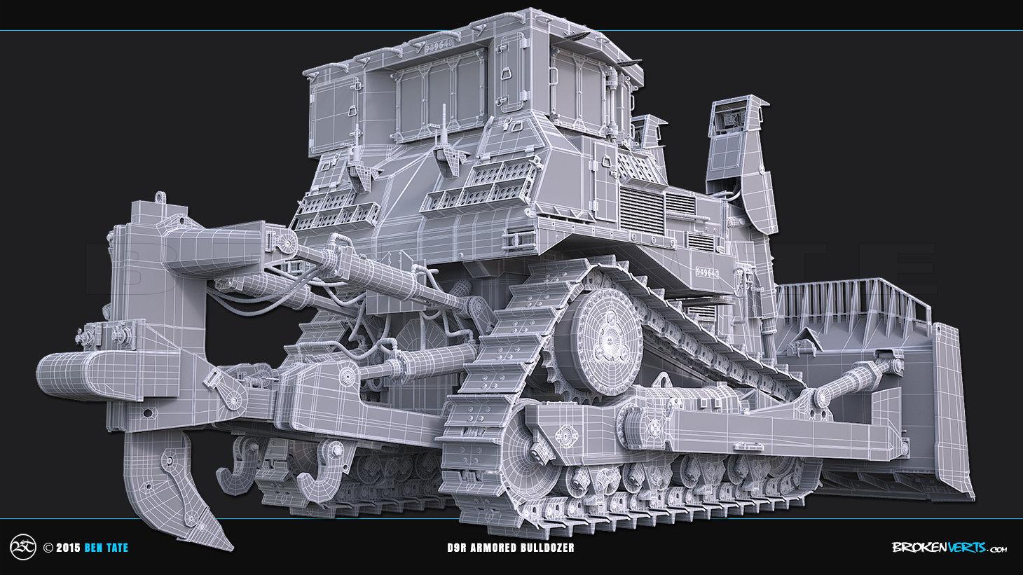 D9R Amored Bulldozer 3D Model | Ben Tate | 3ds Max |VRay |3d CG VFX