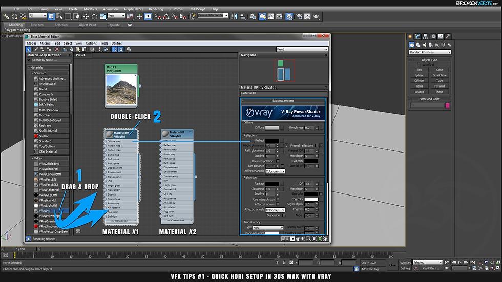 V-Ray Material Tutorial Ben Tate VFX Tips CG 3D Brokenverts.com