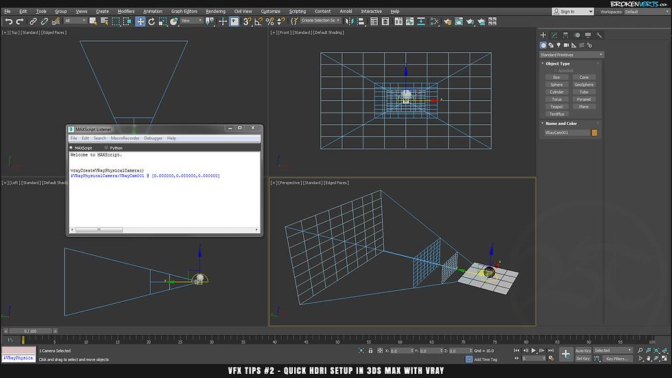 VRay 3 Camera Script Tutorial Ben Tate VFX Tips CG 3D Brokenverts.com 3ds Max