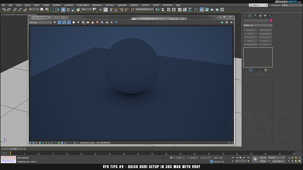 V-Ray Rendering Tutorial Ben Tate VFX Tips CG 3D Brokenverts.com 3ds Max