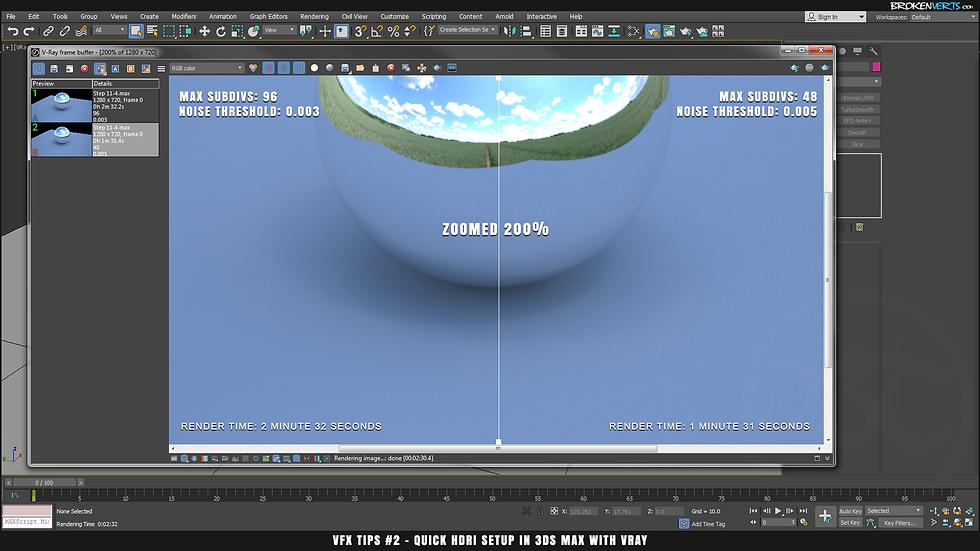 V-Ray Sampling Subdivs Tutorial Ben Tate VFX Tips CG 3D Brokenverts.com 3ds Max