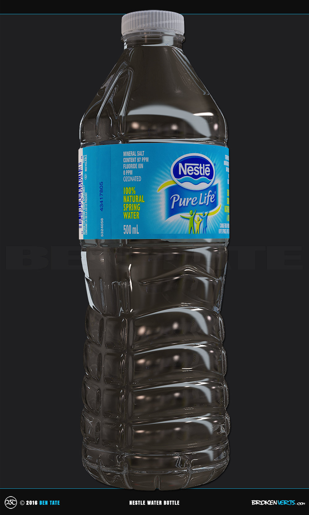 Nestle Pure Life Water Bottle Prop | 3d Model | 3ds Max V-Ray | 3d CG VFX