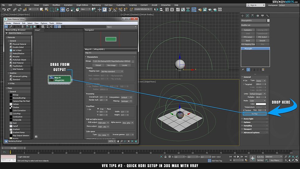 HDRI in 3ds Max with V-Ray Tutorial Ben Tate VFX Tips CG 3D Brokenverts.com 3ds Max