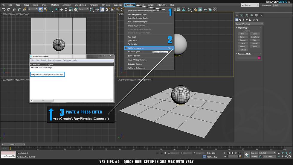 VRayCam in V-Ray 3 Tutorial Ben Tate VFX Tips CG 3D Brokenverts.com 3ds Max