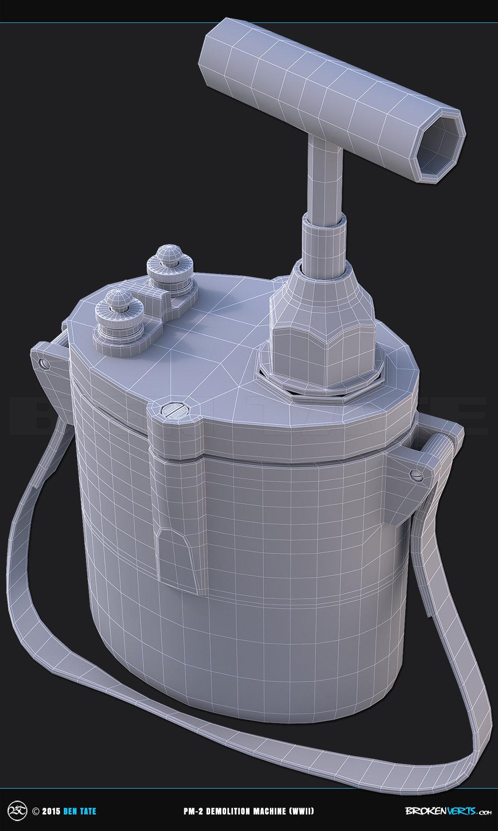 WWII PM-2 Demolition Machine  3D Model | Ben Tate | 3ds Max V-Ray Mari Photoshop |3d CG VFX