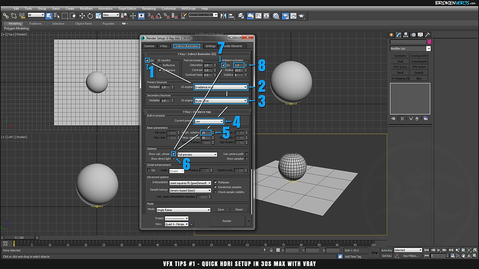V-Ray HDRI Tutorial Ben Tate VFX Tips CG 3D 3ds Max