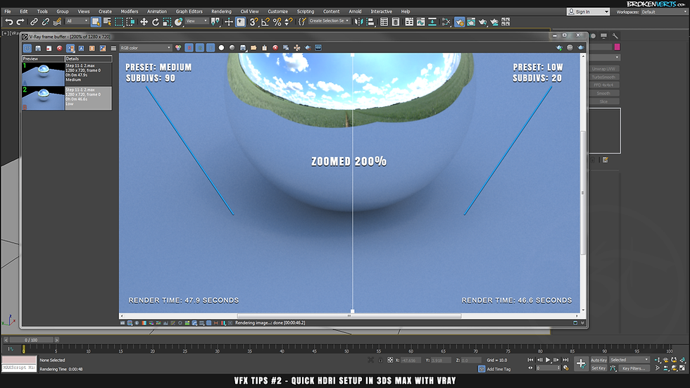 3ds Max V-Ray 3 Noise Tutorial Ben Tate VFX Tips CG 3D Brokenverts.com 3ds Max