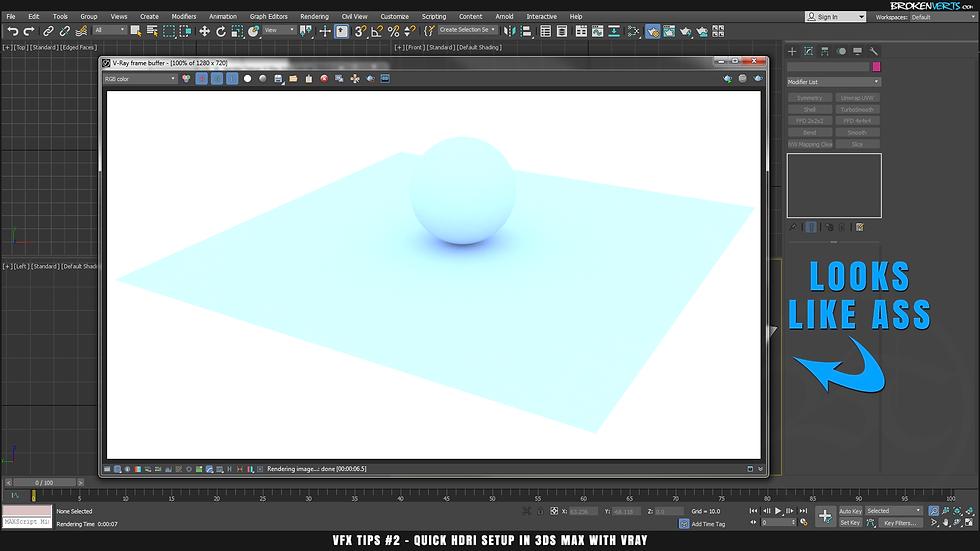 V-Ray IBL Tutorial Ben Tate VFX Tips CG 3D Brokenverts.com 3ds Max