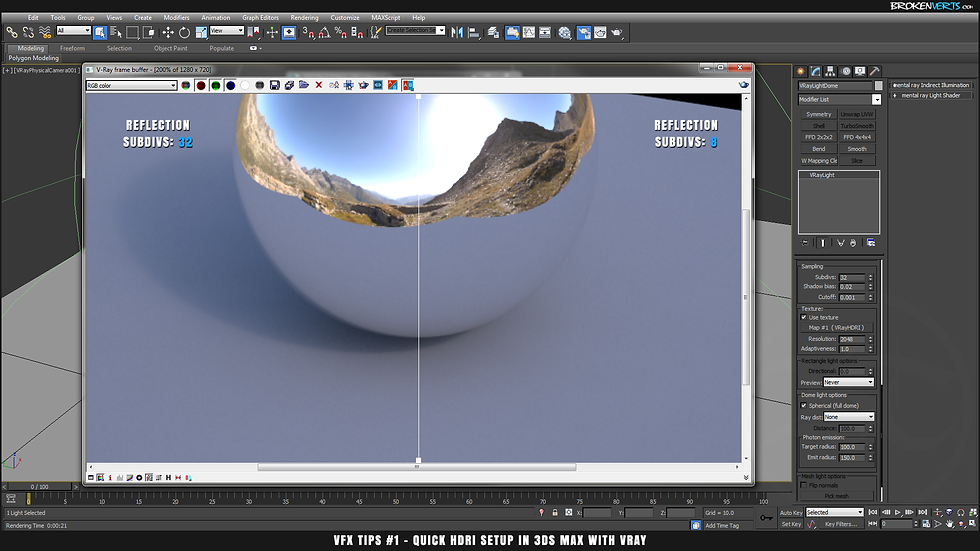 3ds Max V-Ray Noise Tutorial Ben Tate VFX Tips CG 3D Brokenverts.com 3ds Max