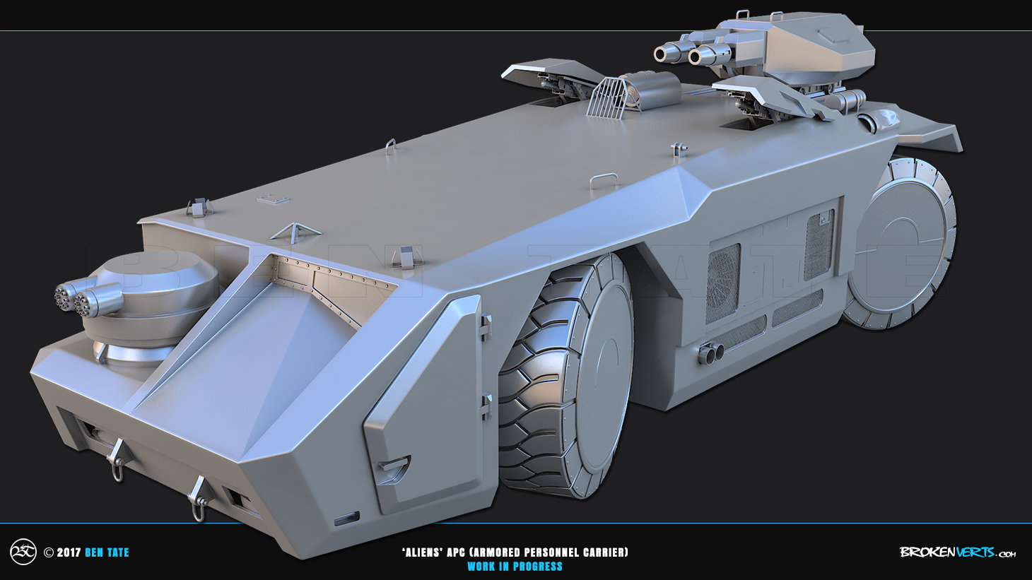 Ben Tate 3ds Max - Aliens APC (Armored Personnel Carrier) Model CG VFX