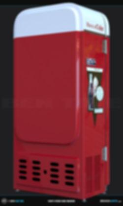 1950s Vendo Coke Vending Machine  3D Model | Ben Tate | 3ds Max V-Ray Photoshop |3d CG VFX