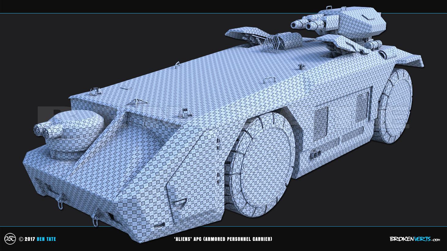 Ben Tate 3ds Max - Aliens APC UV Unwrap Model CG VFX