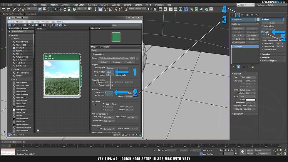 V-Ray Overall Mult Example Tutorial Ben Tate VFX Tips CG 3D Brokenverts.com 3ds Max