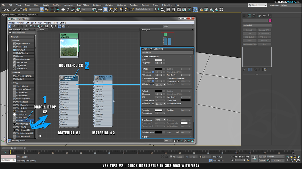 V-Ray Material Tutorial Ben Tate VFX Tips CG 3D Brokenverts.com 3ds Max