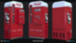1950s Vendo Coke Vending Machine  3D Model | Ben Tate | 3ds Max V-Ray Photoshop