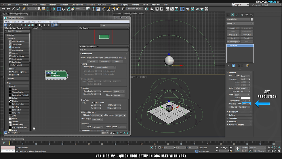 V-Ray HDRI Tutorial Ben Tate VFX Tips CG 3D Brokenverts.com 3ds Max