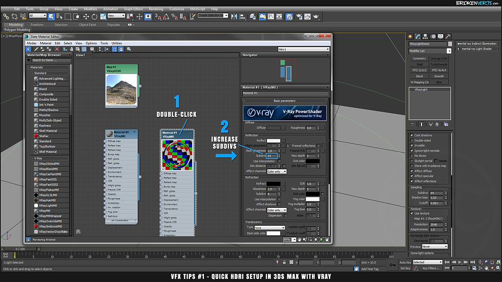 V-Ray Material Subdivs Tutorial Ben Tate VFX Tips CG 3D Brokenverts.com 3ds Max