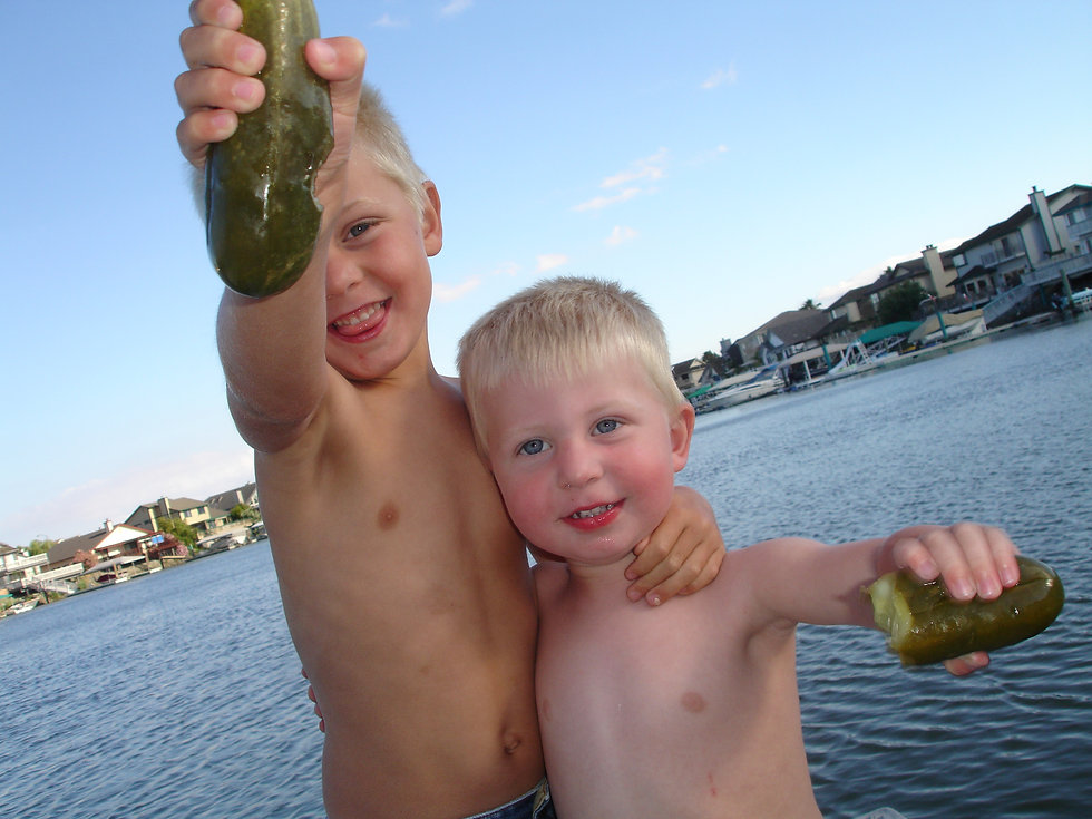 Happy Kids with Pickles