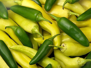 Fresh Banana and Jalapeno Peppers