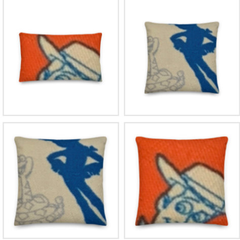 Toy Story Pillow & Pillowcase in Red/Blue