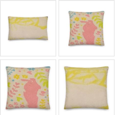 Peter Rabbit Pillow & Pillowcase in Yellow