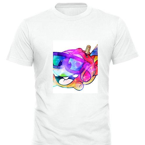 Boys OmNom Watercolour T-Shirt