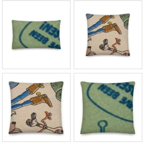 Toy Story Pillow & Pillowcase in Green/Blue