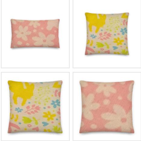 Floral Peter Rabbit Pillow & Pillowcase