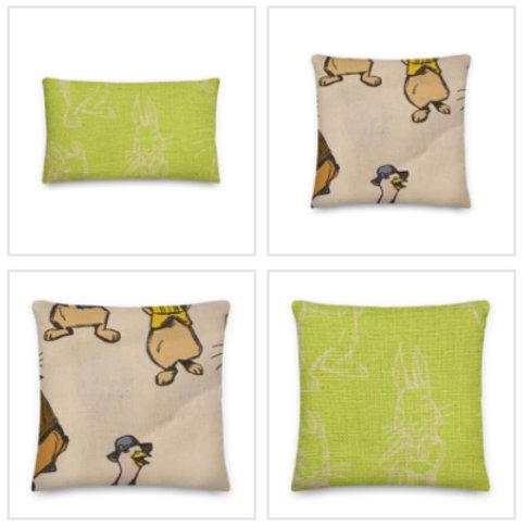 Peter Rabbit Pillow & Pillowcase in Green