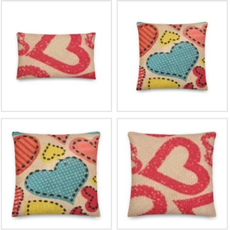 Love Hearts Pillow & Pillowcase