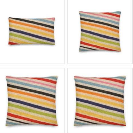 Striped Pillow & Pillowcase