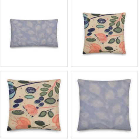 Vibrant Floral Pillow & Pillowcase