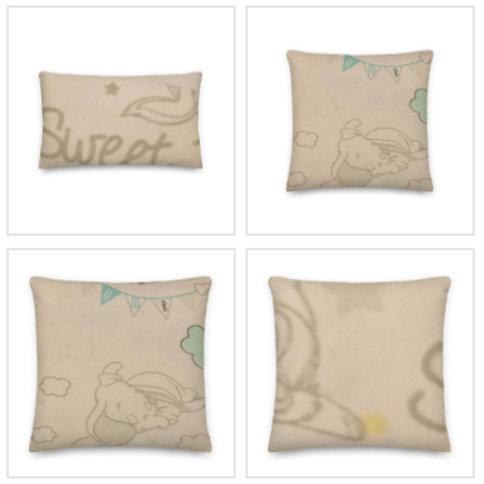 Dumbo Pillow & Pillowcase in Pastel Colours