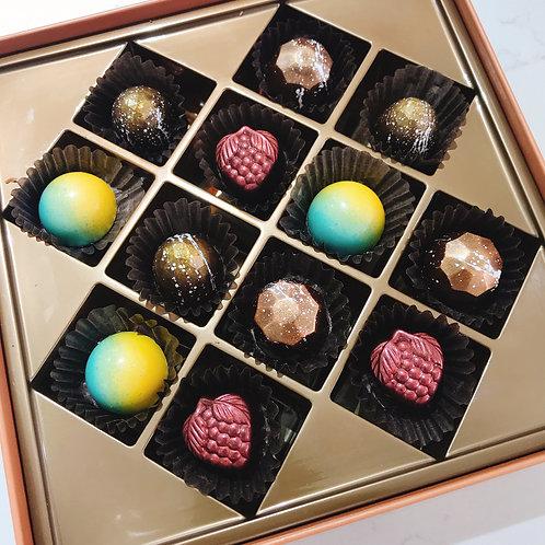 Vegan Hand Craft Chocolate Gift Box 12 Pcs