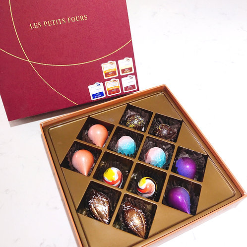 International Awarded Hand Craft Chocolate Gift Box 12 Pcs