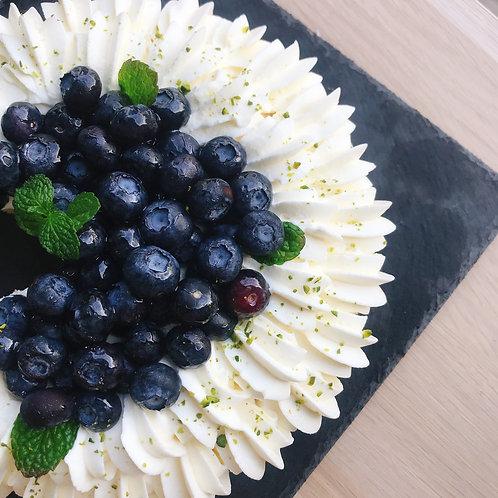藍莓杏仁芝士撻(7吋)