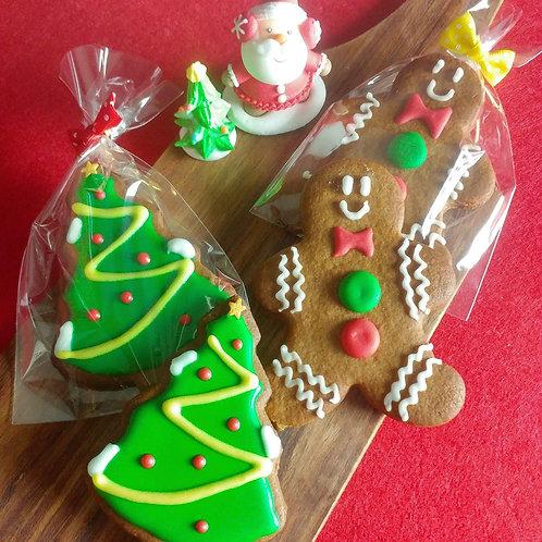 Gingerbread Man & X'Mas Tree (12/24Pcs)